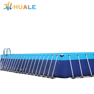 2018 newest type bestway swimming pool, rectangular metal frame pool for sale