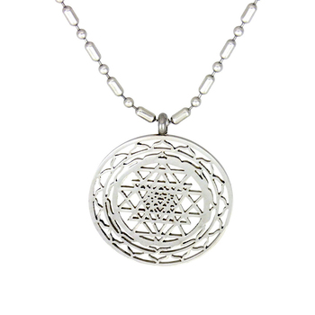 High quality large plate silver sri yantra pendant necklace buy high quality large plate silver sri yantra pendant necklace aloadofball Choice Image