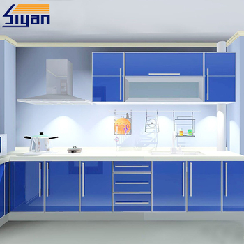 High Gloss Vinyl Wrap Doors Kitchen Cabinets Buy High Gloss Vinyl
