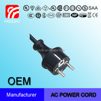 European VDE Three Wire Waterproof Plug 16A power supply cord
