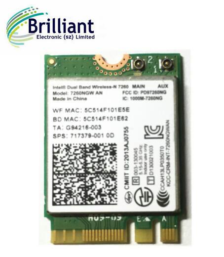 HP Intel Dual Band Wireless-AC 8260 8260NGW NGFF 867M BT4.2 WiFi Card 806722-001