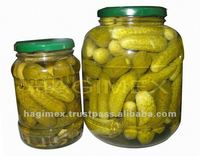 Canned natural fresh pickled cucumbers in jar, in drum, in can from Vietnam