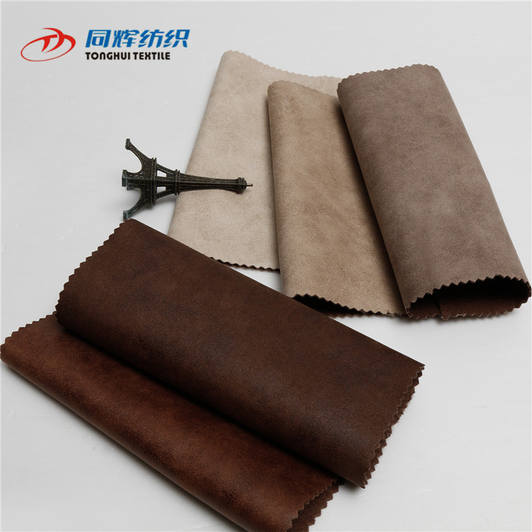 TH6008 Wholesale Custom Design Faux Suede Leather Fabric