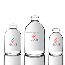 High quality clear glass penicillin bottle Pharmaceutical use