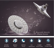New design chrome finished Bluetooth waterproof Music shower head