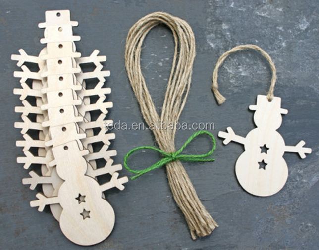 SD-055 Homemade Laser Carved Snowman wooden ornaments