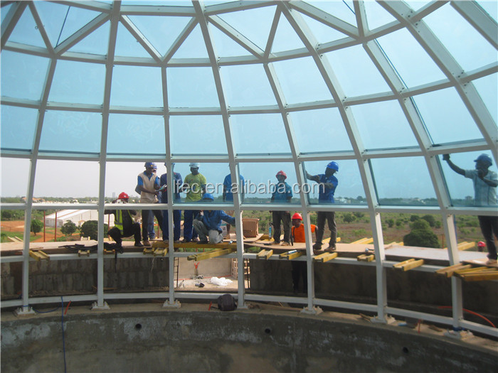 Arched space frame glass dome cover