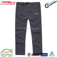 Mens Outdoor Windproof Waterproof Soft shell trouser Ski Pants