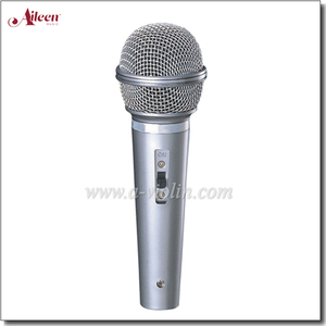 Professional Uni-directivity Plastic MIC Sensitivity Uni-directivity Wired Microphone (AL-DM001)