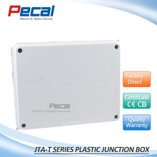 255x200x80 mm IP65 water proof outdoor plastic junction box with knockouts