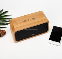 new design high quality portable bamboo wood wireless speaker