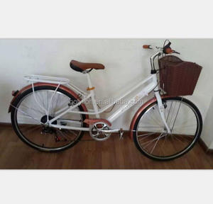 factory direct low price 6speed city bike bicycle for lady with carrier and front basket