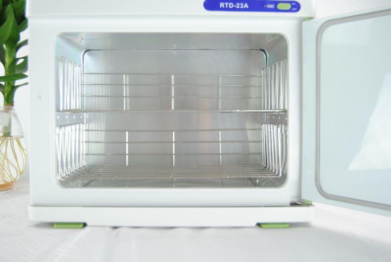 RTD-23A UV 屋外ミニオゾン殺菌消毒キャビネット、 RTD 23A 220 12v 温水ウェットホットタオルウォーマー美容院のための使用