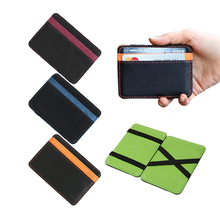 Brand Men's magic wallets money clip clutch credit card bag casual clip for money women purse 10*7*0.8cm