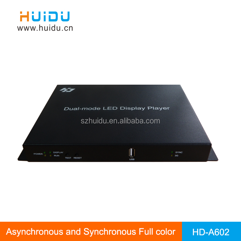 alibaba <strong>express</strong> advertising HD-A601 LED full color display box controller