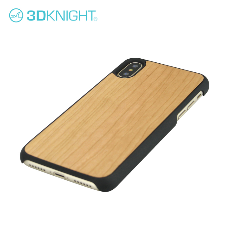 Luxury 100% Original Natural Real Wood Phone Case Cover For iPhone X