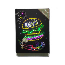 Werbe led licht up glitter student kind kinder <span class=keywords><strong>notebook</strong></span>/journal/tagebuch