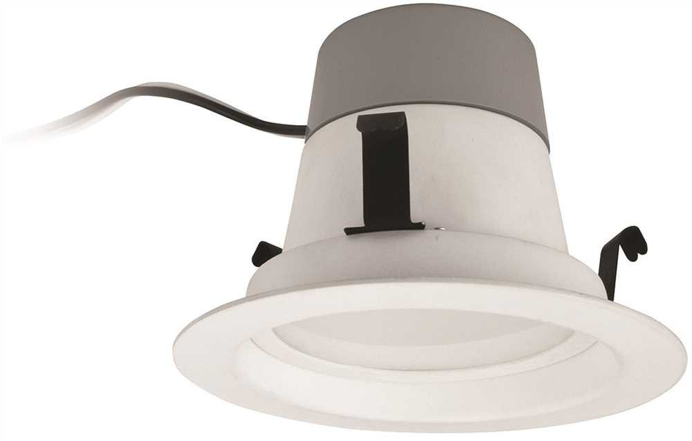 600 Lumens - 10W LED - Downlight - 60W Equal - 2700K - Fits 4 in. Can Lights - Integrated Baffle Trim - Dimmable - TCP LED10DR427K