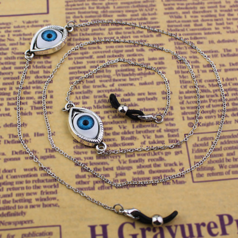 GL037 beautiful aged brass chain evil eye glasses string for eyewear accessories