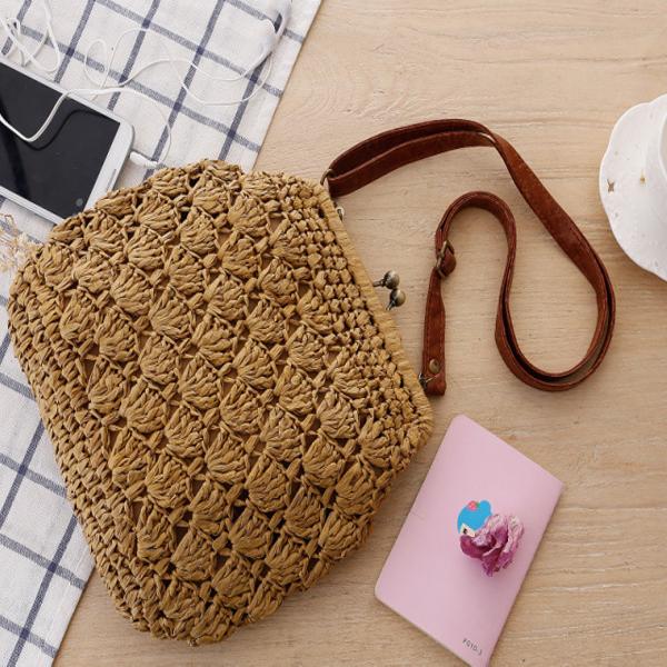 W6247 New Fashion Shoulder Strap Purse Round Bag Crochet Bag Pattern