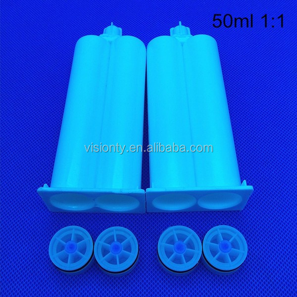 50ml 2:1 PBT tube for solid surface glue, injection solid-surface AB cartridge