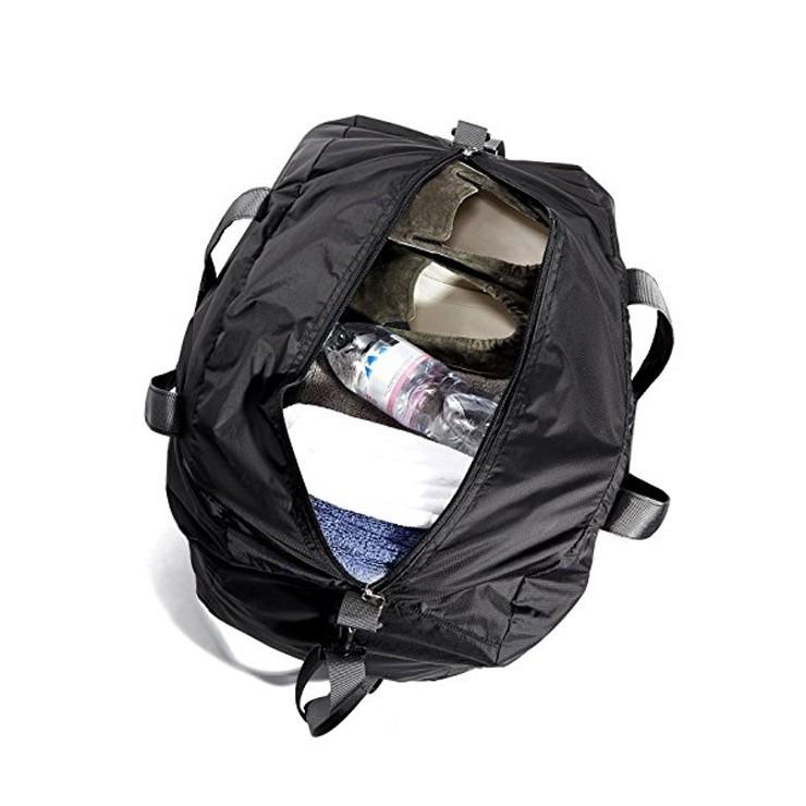 zip closure Adjustable shoulder strap smart travel nylon sports duffel bag a05f2a5acaa70