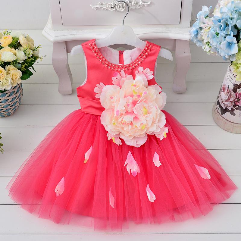 2017 Nuevo diseño de moda para niños vestido de novia vestido de ...