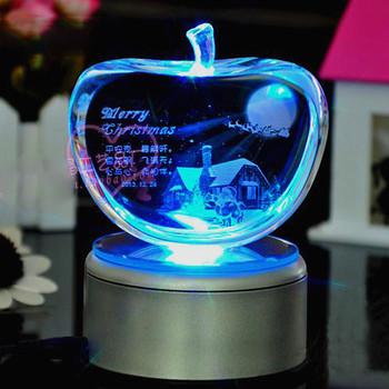 Licht Base Crystal Led Glas 3d Laser Cadeau Artikelen Voor Vrouw Verjaardag Buy Kristal Led Licht Basis Glazen 3d Lasercadeau Artikelen Voor De