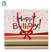 OEM Accepted !! Happy birthday design paper gift shopping bag