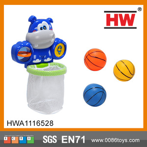 Funny children hippo swim bath toy set