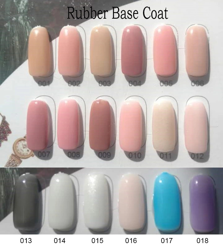Nails salon professional products gel Rubber base coat 56 colors design for nail art salon material