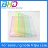 2015 TPU case soft transparent tpu case for samsung note4 Mobile phone shell