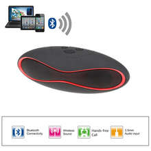 Potable X6U Mini Rugby / Football Stylish Wireless Stereo Bluetooth Speaker Hands-free with TF Card Slot USB Port for iPhone 6