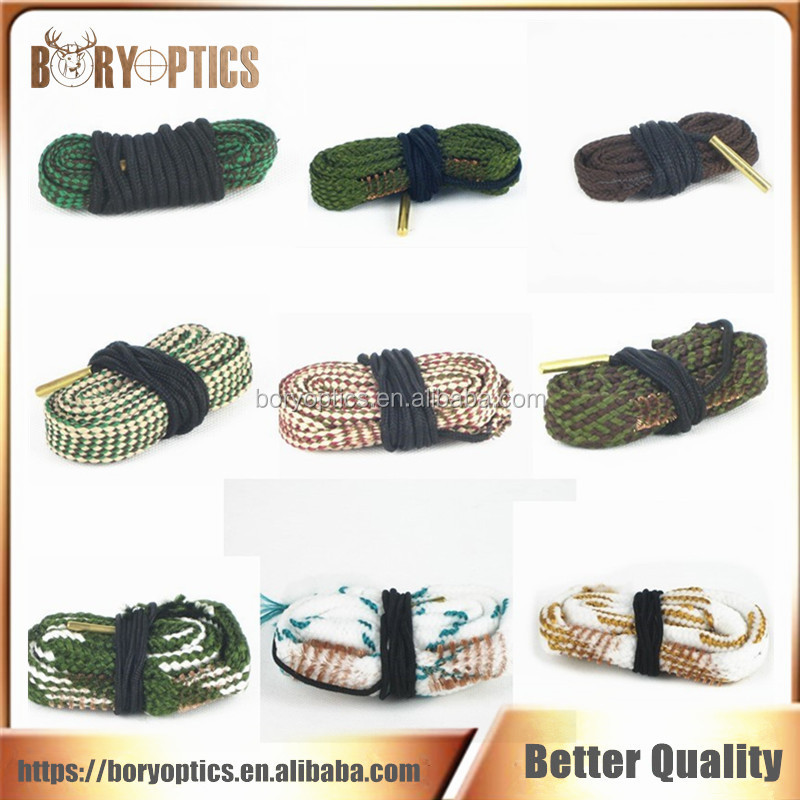 Hunting Bore Snake rifle Cleaning 22 Cal 223 5.56mm /7.62mm .308 .300 .303Cal / 9mm Calibre Boresnake Rope Rifle Barrel Kit Caza