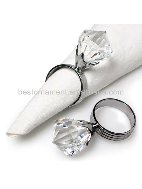 Clear Acrylic Napkin Rings