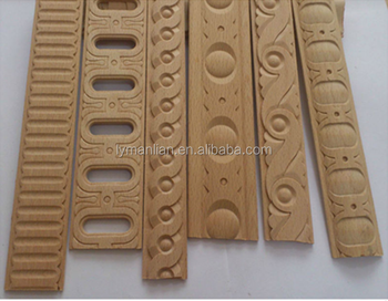 Solid wood appliques and onlays decorative moulding for exterior