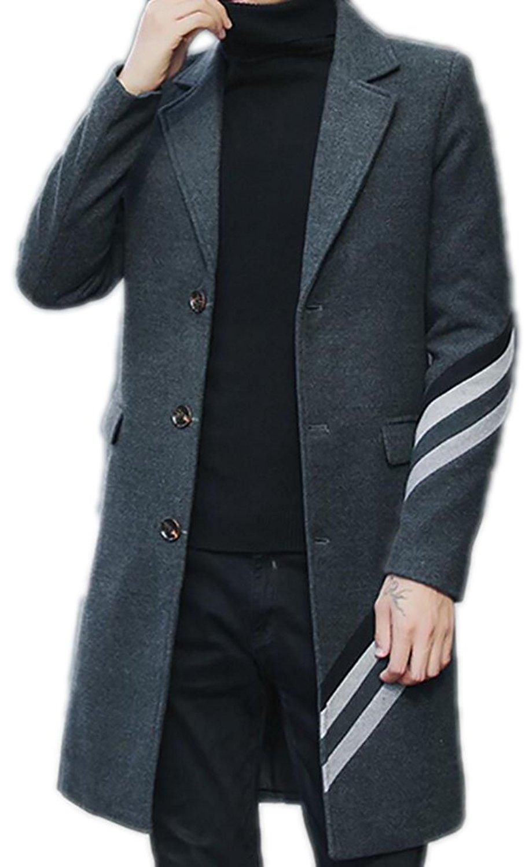 Fensajomon Women Long Sleeve Plus Size Lapel Double Breasted Washed Denim Jacket Trench Coat