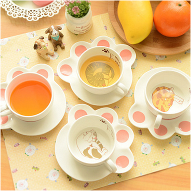 Cartoon Cup Holder Ceramic Coffee Mug Cup Set Ceramic Plate Set  sc 1 st  Alibaba & China Plate Cup Holders Wholesale 🇨🇳 - Alibaba