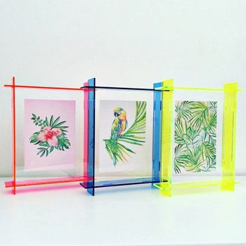 Bright Blue Acrylic Box Frame,Perspex Frame,Neon Floating Frame ...