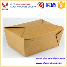 Professional high quality custom takeaway kraft paper lunch food boxes wholesale