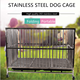 Wholesale stainless steel folding free-installation dog cage