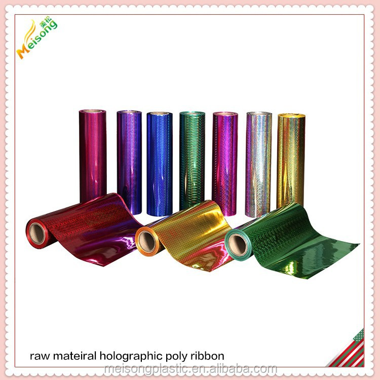 decoration holographic poly ribbon material sheet