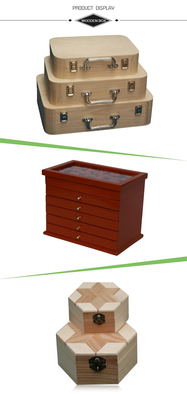 Amazon Fashion Creative Wooden Double Drawer DIY Cosmetic Make up Removable Collection Organizer, Jewelry Storage