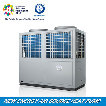 100kw Hotel Central Heating Cooling System Air Source Heat Pump ...