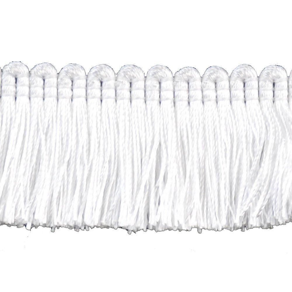 A1 1 1//4 Basic Trim/Brush Fringe Style# 0150SB Color: White Sold by The Yard White