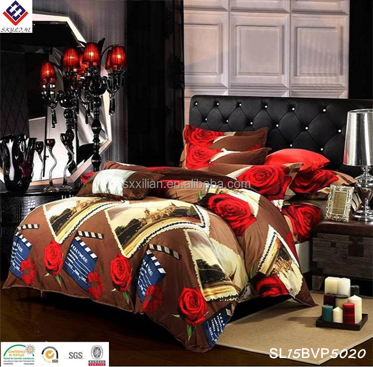 Customized stamp printed bedding sets we can print your photos on bedding sets