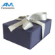 Custom Luxury Ribbon Sealed Wedding Invitation Silk Card Box