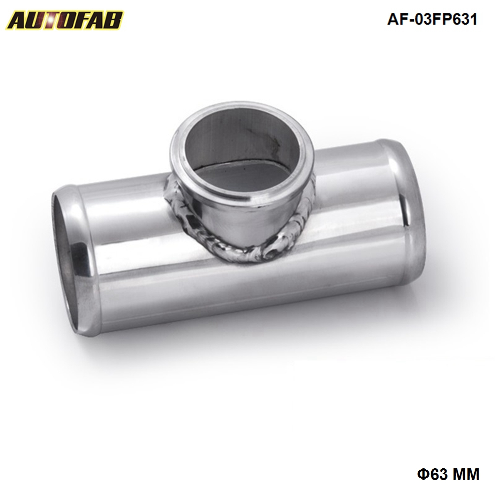 "AUTOFAB - Universal 63mm 2.5"" Turbo Aluminum Flang Pipe Fit For Tail 50mm Blow Off Valve Turbo AF-03FP63"