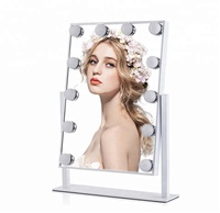 Led Makeup Mirror With 12 led Lighted For Bathroom illuminated 2 color modes Vanity Cosmetic Mirror