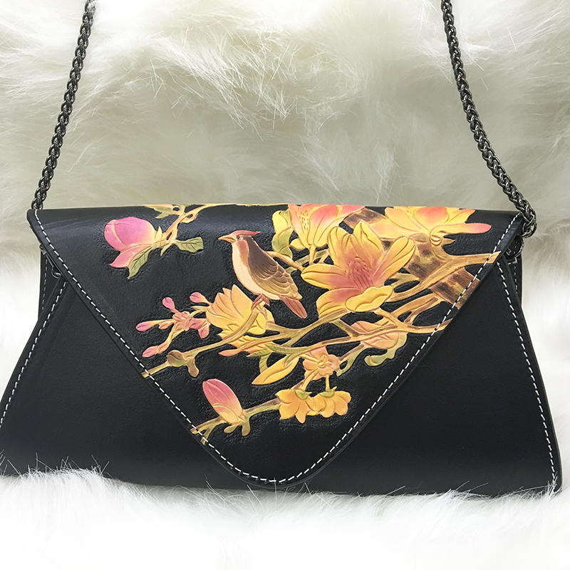 Customize clutch bags china leather handle clutch purse bag for lady